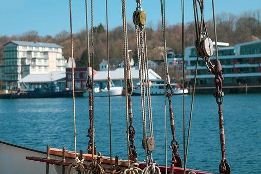 Cordage, Port, Berth, Maritime, By Looking, Flensburg
