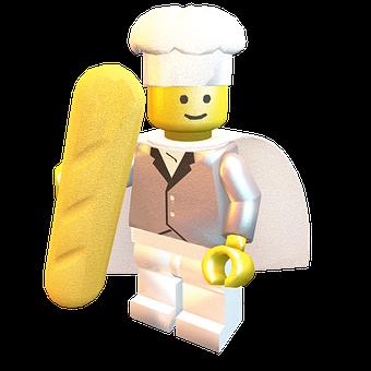 Lego, Super, Cook, Boss, Kitchen, Render, Bread, Toasty