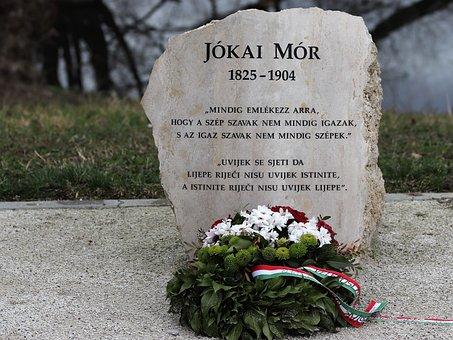 Jokai Mor, Memorial, Hungarian Novelist, Sentence