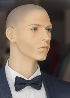 Display Dummy, Male, Model, Face, Suit, Fly, Portrait