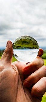 Lensball, Ball, Lens, Nature, Light, Glass, Creativity