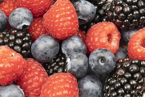 Berries, Berry, Raspberry, Blackberry, Blueberry, Fruit