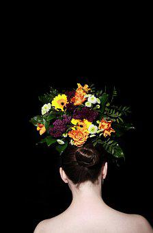 Female, Bunch Of Flowers, Bouquet, Decoration