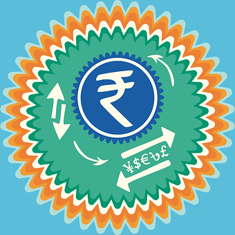 Indian Rupee, India Inr, Rs Badge, Dollar Sign