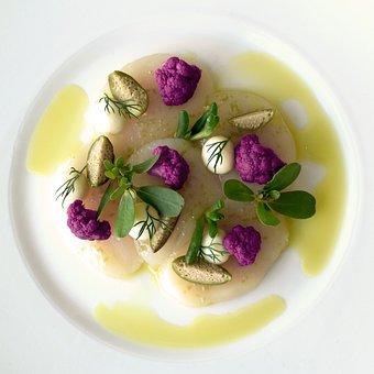 Scallops, Cauliflower, Olive Oil, Artemis