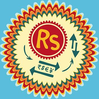 Sri Lankan Rupee, Sri Lanka Lkr, Rs Badge, Dollar Sign
