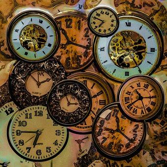 Steampunk, Clocks, Time, Rust, Aged, Plastic, Gears