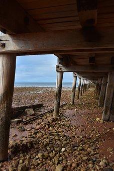 Jetty, Sand, Rocks, Wood, Beach, Sea, Pier, Water