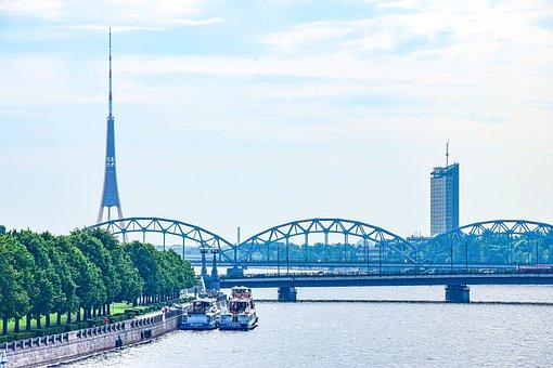 View, Perspective, Radio Tower, Bridge