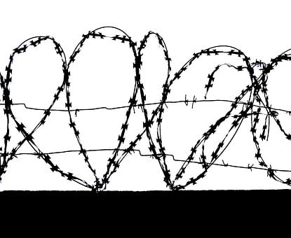 Barbed, Wire, Hearts, Barbed Wire, Fencing, Fence