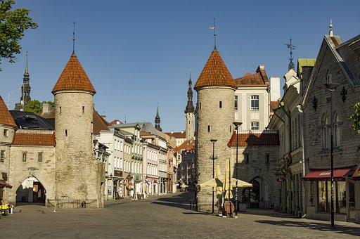 Viru Gate, Tallinn, Architecture, Old, City, Building