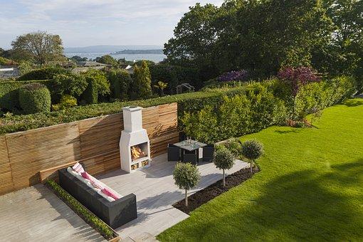 Garden, Fireplace, Outdoor, Wood, Barbecue, Sea, Green