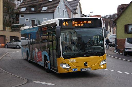 Bus, Mercedes, Merceds-benz, Stuttgart, Germany