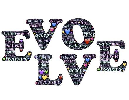 Evolve, Love, Presence, Mindfulness, Loving, Caring