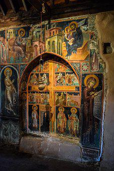 Church, Old, Medieval, Paintings, Iconography, Religion