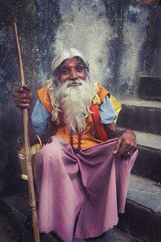 People, Portrait, Religion, Sadhu, Nepal, Kathmandu