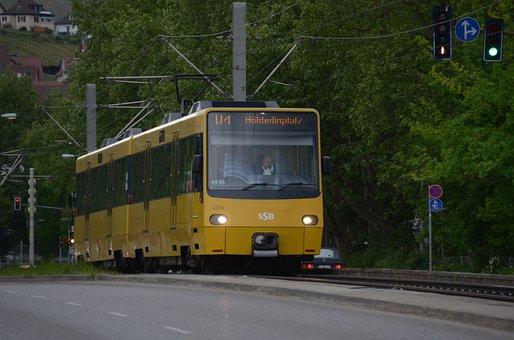 Stuttgart, Light Rail, Tram, Untertürkheim, Train