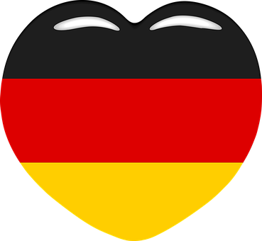 Heart, Germany, World Cup, Love, Black, Red, Gold