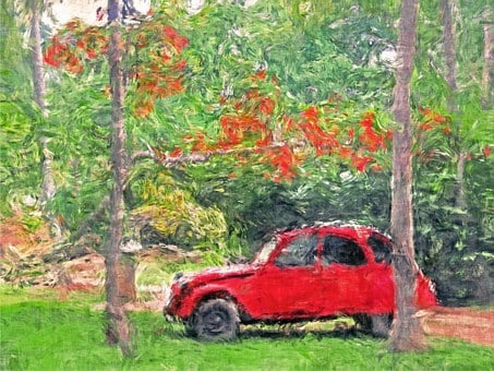 Acrylic, Alone, Art, Artwork, Auto, Automobile, Autumn