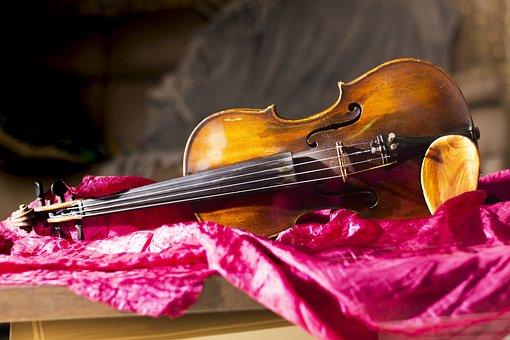 Violin, Purple, Cover, Strings, Old, Italian, Classic