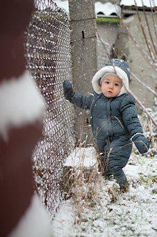 Garden, Snow, Pleasure, Winter, Nature, White, Baby Boy