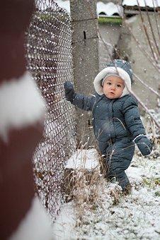 Garden, Snow, Pleasure, Winter, Nature, White, Baby Boy