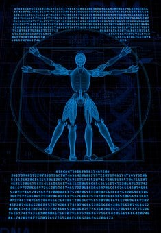 Vitruvian, Robot, Cyborg, 3d, Man, Anatomy, Davinci