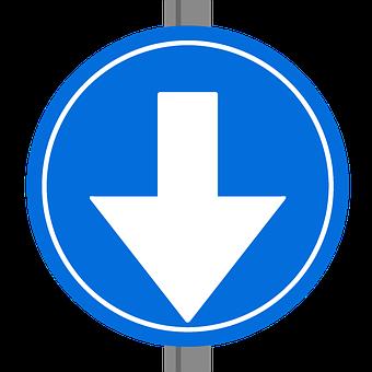 One Way Sine, Traffic Sign, Dutch, European