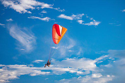 Paramotor, Flight, Paragliding, Flying, Freedom, Wing