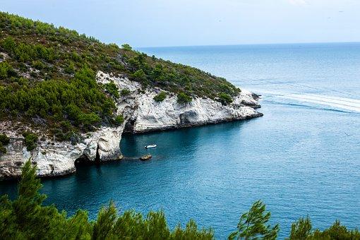 Gargano, Sea, Puglia, Vieste, Rock, Italy, Peschici