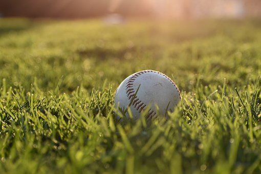 Baseball, Outdoor, Sports, Sunrise, Grass, Lawn, White