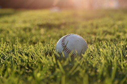 Baseball, Outdoor, Sports, Sunrise, Grass, Lawn, White