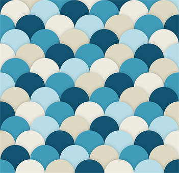 Scallops, Texture, Square, Semicircles, Shadowed