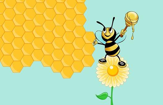 Bee, Honey, Flower, Organic, Beekeeping, Food, Beehive