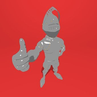 Knight, 3d, Medieval, Thumbs Up, Armor, Warrior