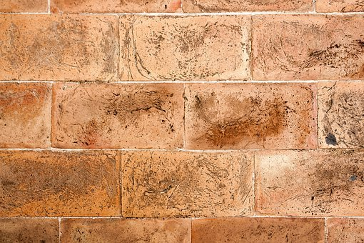 Brick, Wall, Italy, Assisi, Pattern, Red