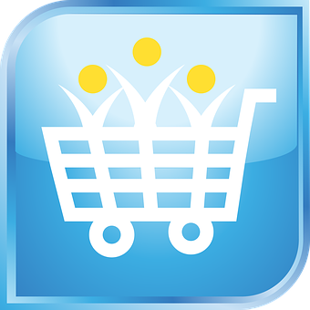 Shopping Cart, Icon, Blue, Shopping Cart Icon, Shopping