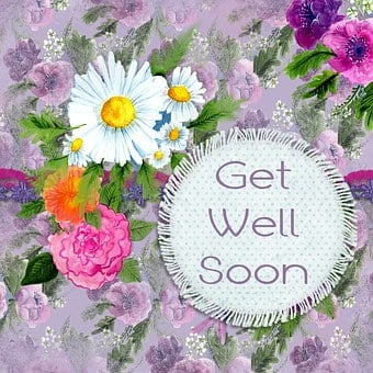 Get Well, Flower, Greeting, Card, Wishes, Get Well Soon