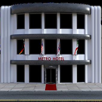 Hotel, Vignette, Outside, Exterior