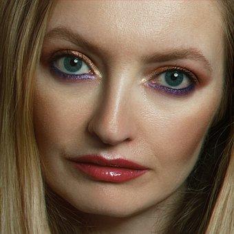 Girl, Portrait, Makeup, Person, Beauty, Blonde, Lips