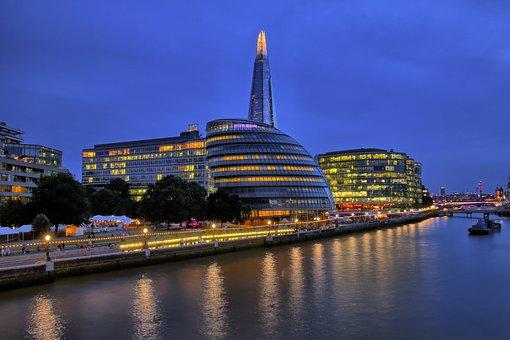London, Thames, River, Shard, Mayor, Office, Landmark