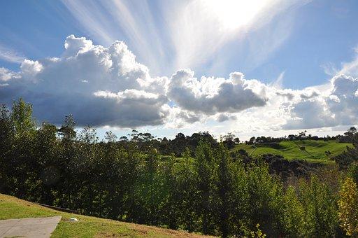 Crepuscular, Cloud, Albany, New, Zealand