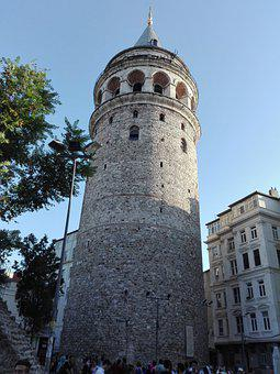 Galata, Tower, Istanbul, Monument, Turkey, Architecture