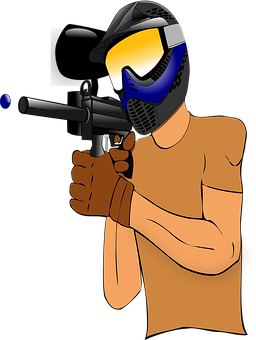 Paintball, Player, Gotcha, Marker, Shooting, Weapon