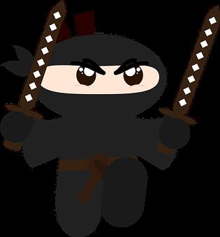 Ninja, Minimalist, Hd, Sword, Katana, Brown, Black
