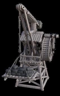 Crane, Baukran, Middle Ages
