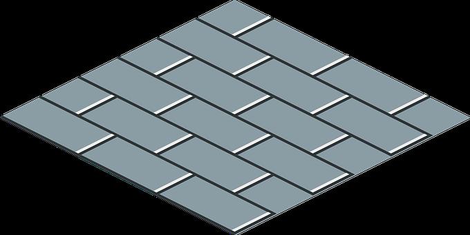Grey Brick, Running Bond, Tile, Flooring