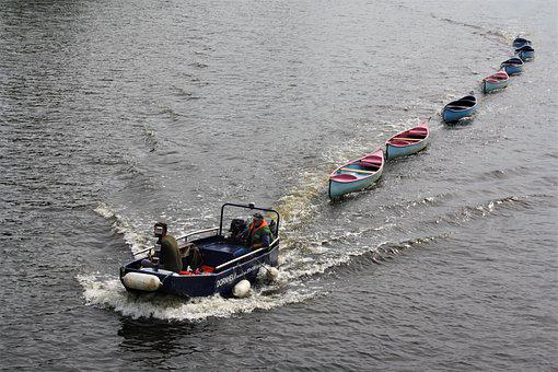 Canoes, Boat Rental, Tow, Alster, Hamburg