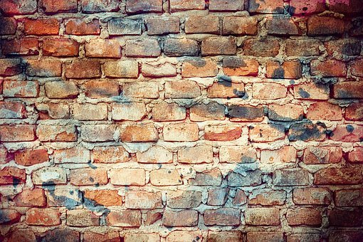 Texture, Background, Redbrick, Wall, Watercolor