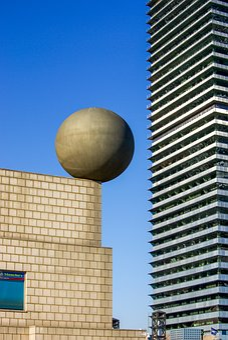 Barcelona, Building, Glass, Modern, Architecture
